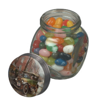 Car Accident - It came out of nowhere 1926 Glass Candy Jar