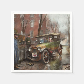 Car Accident - It came out of nowhere 1926 Paper Napkin