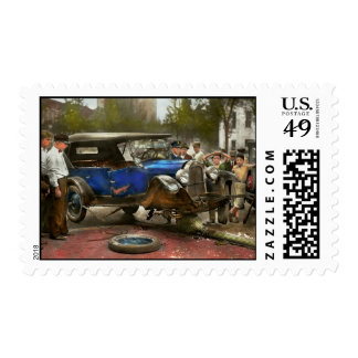Car Accident - It came out of nowhere 1926 Postage Stamp