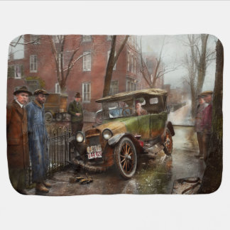 Car Accident - It came out of nowhere 1926 Receiving Blanket