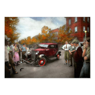 Car - Accident - Late for tee time 1932 Card