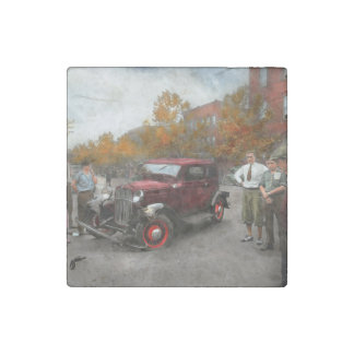 Car - Accident - Late for tee time 1932 Stone Magnet