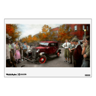 Car - Accident - Late for tee time 1932 Wall Decal