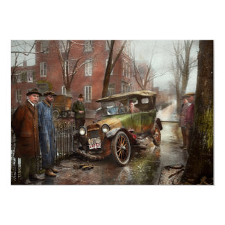 Car Accident - Watch for ice 1921 Card