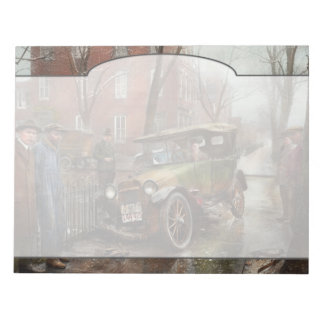 Car Accident - Watch for ice 1921 Notepad