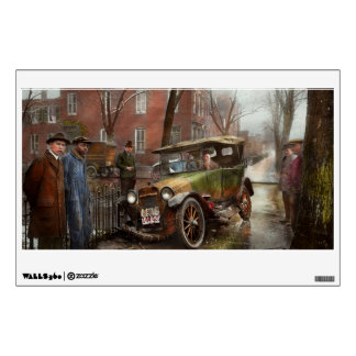 Car Accident - Watch for ice 1921 Wall Sticker