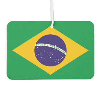 Car Air Fresheners with Flag of Brazil