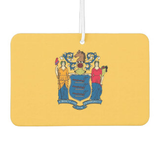 Car Air Fresheners with Flag of New Jersey, USA