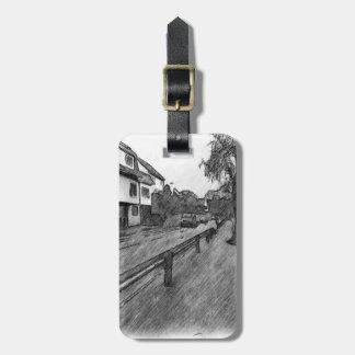 car and traffic drawing bag tag