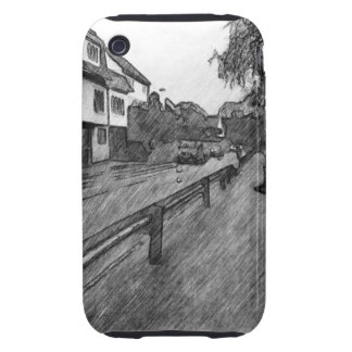 car and traffic drawing tough iPhone 3 cases