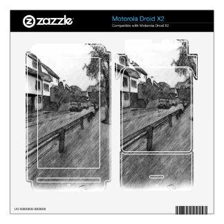 car and traffic drawing motorola droid x2 decal