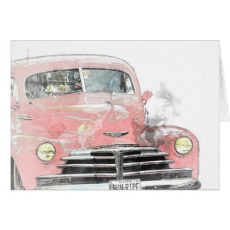 Car Antique All Occasion Greeting Card