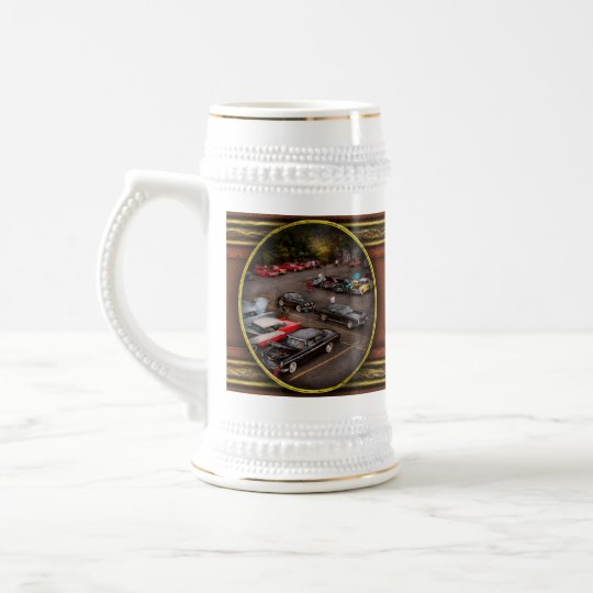 Car - Antique car show Beer Stein