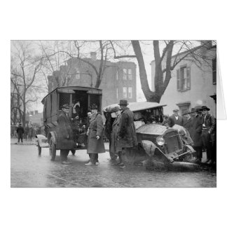 Car arruinado del contrabandista, 1922 tarjeta