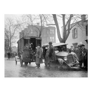 Car arruinado del contrabandista, 1922 tarjetas postales