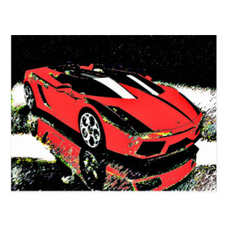 Car Art Postcard