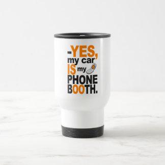 Car as a Phone Booth mug - choose style & color