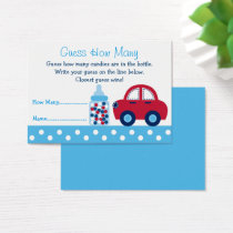 Car Baby Shower Guess How Many Game Business Card