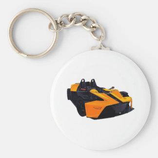 car basic round button keychain