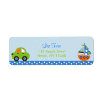Car Boat Transportation Baby Shower Address Labels