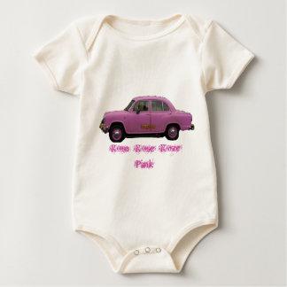 car Bollywood, Rosa  Rose  Roze Pink Baby Bodysuit