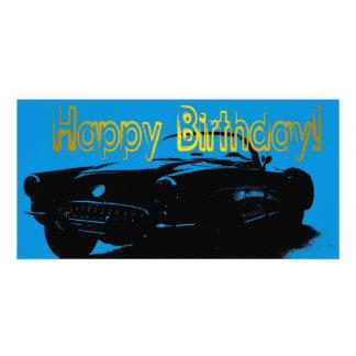 Car Bookmark Happy Birthday Photo Card