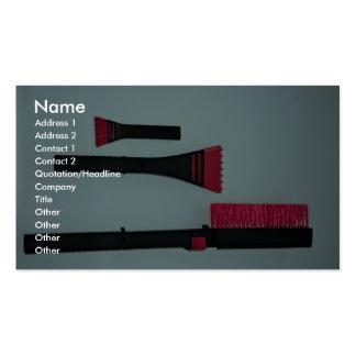 Car brush and scraper business cards