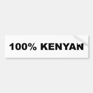 Car Bumper Sticker: 100% Kenyan Bumper Sticker