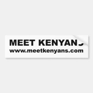 Car Bumper Sticker: Meet Kenyans Bumper Sticker