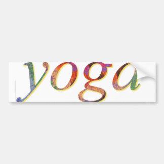 car bumper sticker - yoga