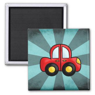 Car cartoon 2 inch square magnet