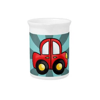 car cartoon beverage pitcher