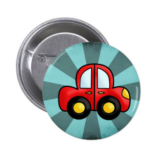 Car cartoon button