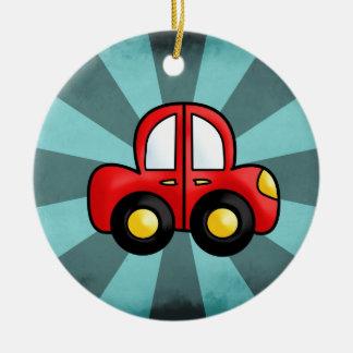 car cartoon ceramic ornament