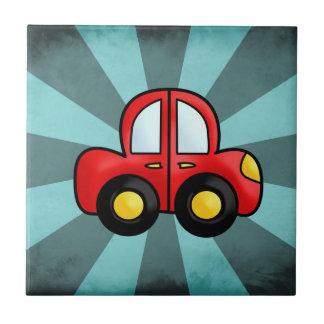 Car cartoon ceramic tile