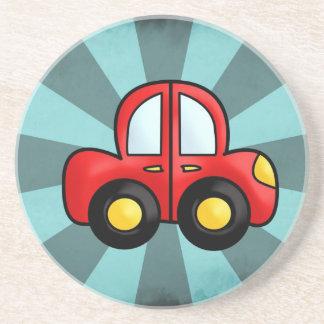 car cartoon drink coaster