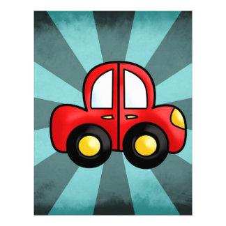 car cartoon letterhead