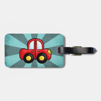 car cartoon luggage tag