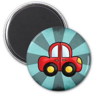Car cartoon magnet
