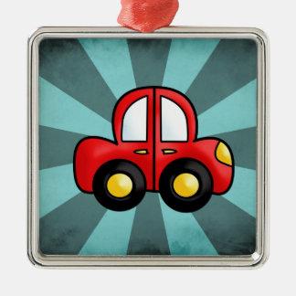 car cartoon metal ornament