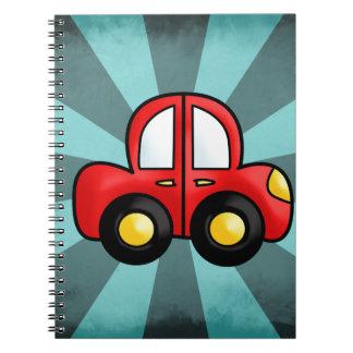 car cartoon notebook