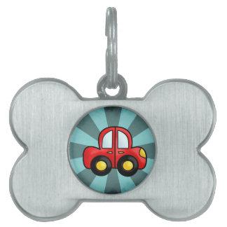 car cartoon pet name tag