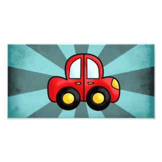 Car cartoon photo print