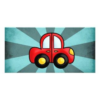 Car cartoon customised photo card