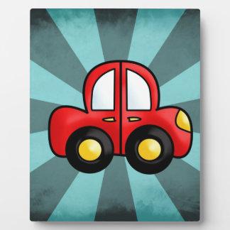 car cartoon plaque