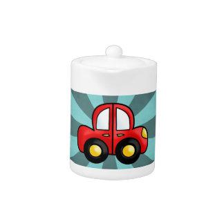 car cartoon teapot