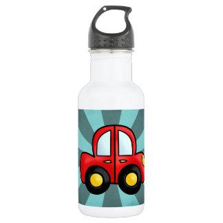 car cartoon water bottle