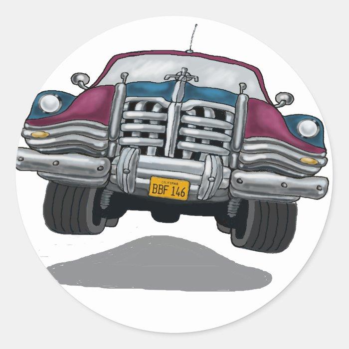Car Chrome Classic Round Sticker