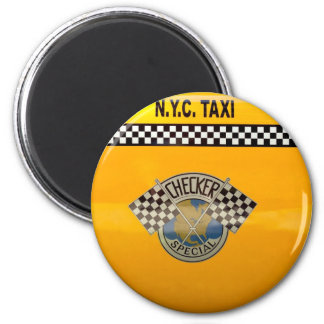 Car - City - NYC Taxi 2 Inch Round Magnet