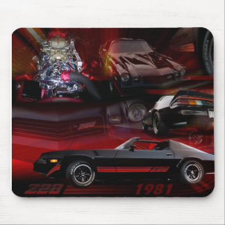 Car Collage with red &black Mouse Pad